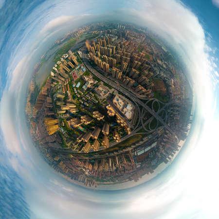 Wuhan Summer City Aerial Scenery