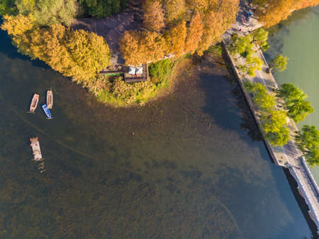 Hubei Wuhan East Lake Scenic Area Late Autumn Aerial Photography Scenery