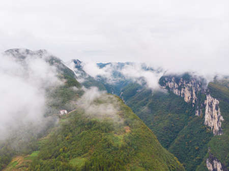 Autumn scenery of the Dixin Valley Scenic Area in Enshi, Hubei
