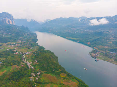 Autumn scenery of Jianshiye Three Gorges Scenic Area in Enshi, Hubei