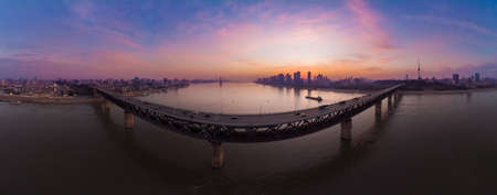 Wuhan city skyline scenery in Hubei 版權商用圖片