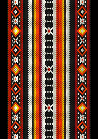 rug: Detailed Arabian Sadu Weaving Vintage Rug Illustration