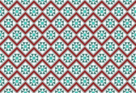 festive: Festive Zig Zag Mosaic Pattern