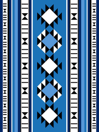 middle eastern: Blue Theme Middle Eastern Rug Pattern From The Arabian Gulf Region