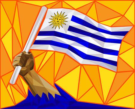 raise the white flag: Uruguay Victory Flag