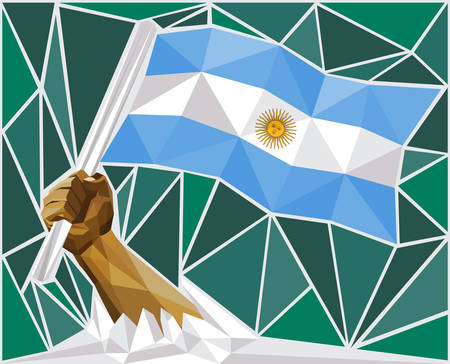 western theme: Strong Hand Raising The Flag Of Argentina