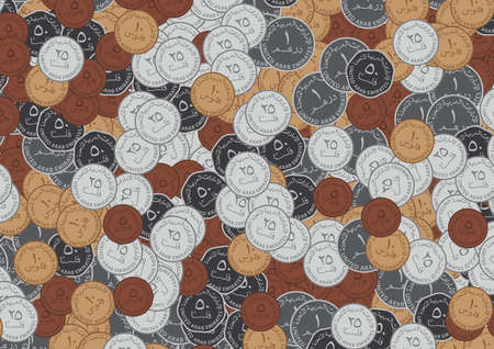 united arab emirates: United Arab Emirates Coins Background Stock Photo