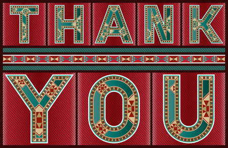marquetry: Marquetry Style Onamental Thank You Sign