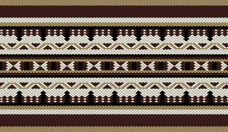traditional pattern: Classic Colors Sadu Weaving Traditional Rug Pattern Illustration