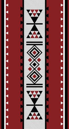 middle: Hand Embroided Traditional Sadu Carpet Motif From The Middle East