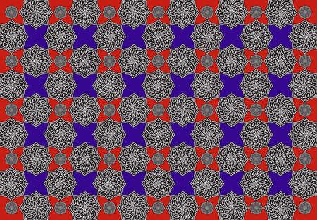 A Stylish Arabesque Tiles Pattern Background