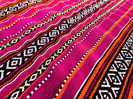 Pink Traditional Sadu Carpet