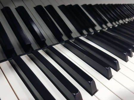 Beautiful Classic Piano Keys Reflection Background