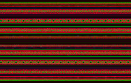 Detailed Horizontal Traditional Handcrafted Black Sadu Rug