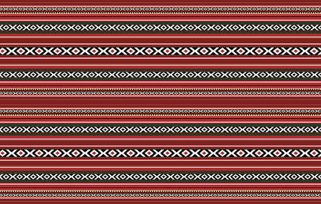 Detailed Horizontal Traditional Handcrafted Red Sadu Rug Stock fotó