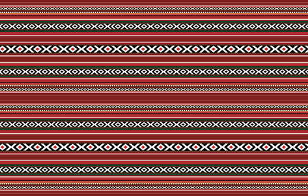 Detailed Horizontal Traditional Handcrafted Red Sadu Rug Standard-Bild