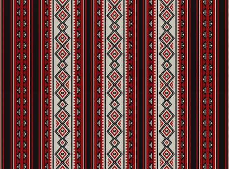 Red Sadu Traditional Bedouin Rug Pattern Background Stock Photo