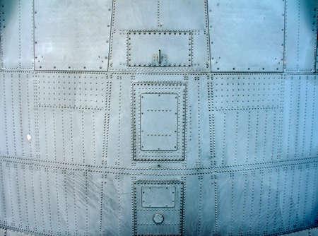 Heavy Airplane Fuselage Metallic Texture Closeup Background