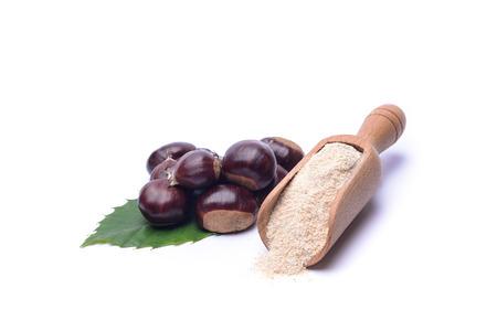 farina: Farina di castagne Stock Photo