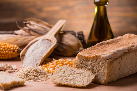 corn flour: Pane senza glutine