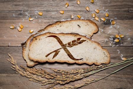 Logo gluten free grigliato su pane