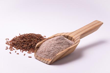 farina: Farina di riso rosso falasco ermes Stock Photo