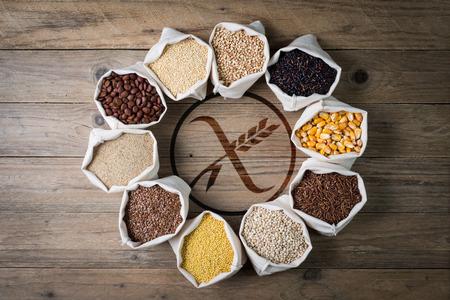 cereal senza glutine con 글루텐을 무료로 스톡 콘텐츠