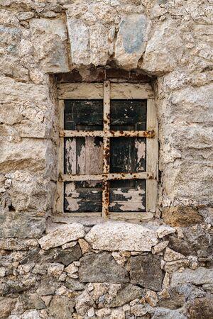parole: Old ruin wood window texture pattern Stock Photo