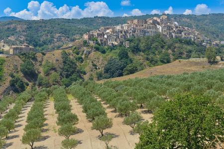 Perched old village of Badolato in south italian Catanzaro country
