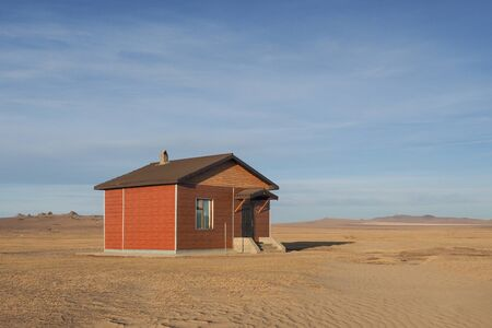 little house in a mongolian gibi desert