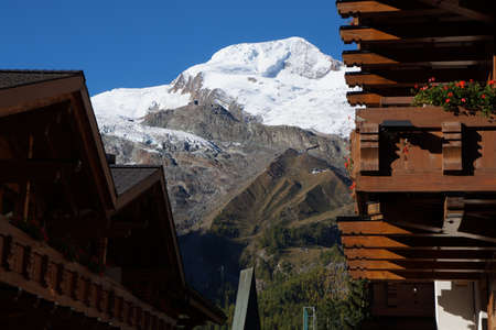 saas fee: Saas Fee View of the Allalin Glacier