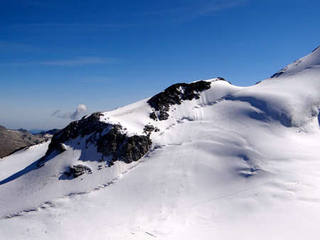 saas fee: Saas Fee View from Allalin Glacier