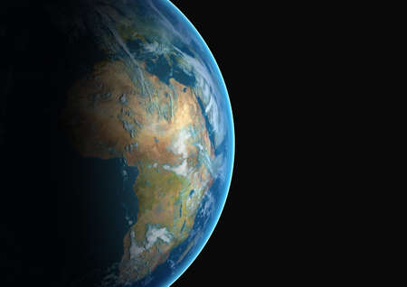 continents: Planet earth with African continent Stock Photo