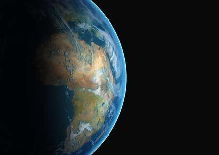 continente africano: Planeta tierra con el continente africano