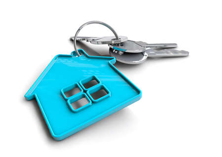 Concept for a home owner, buying or selling a house. Bond and mortgage. Stock Photo
