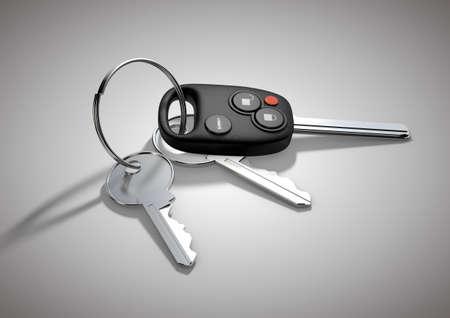 passenger vehicle: Modernos llaves del coche para veh�culos de pasajeros aislados en la superficie blanca plana.