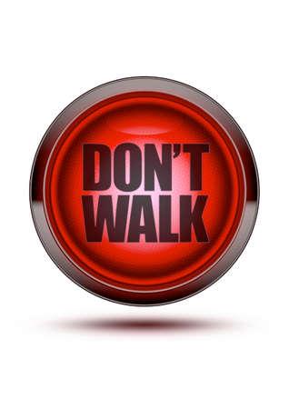 빨간 트래픽 보행자 빛 화이트 절연 단어와 도보 및 그림자하지 마십시오. 위험을위한 개념, 가지 마라, 걷지 마라, 보행자가 없다, 멈추라. 스톡 콘텐츠