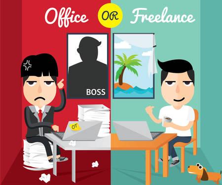 freelance: Office or freelance character design Illustration