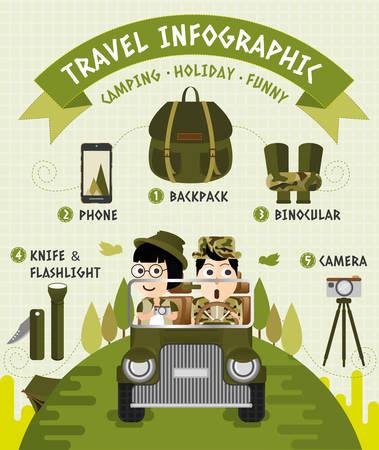 Travel Infographic, flat design Иллюстрация