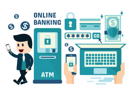 9 365 smart banking stock vector illustration and royalty free smart rh 123rf com internet banking clipart banking system clipart