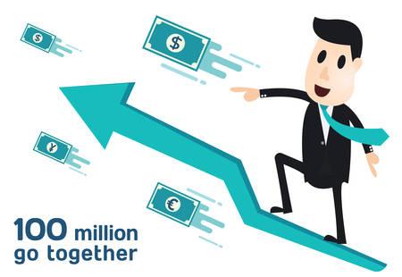 Business man infographics Иллюстрация