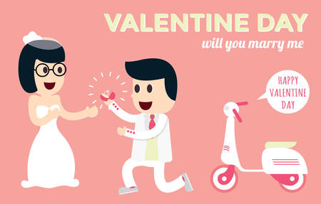 Valentine day and marry