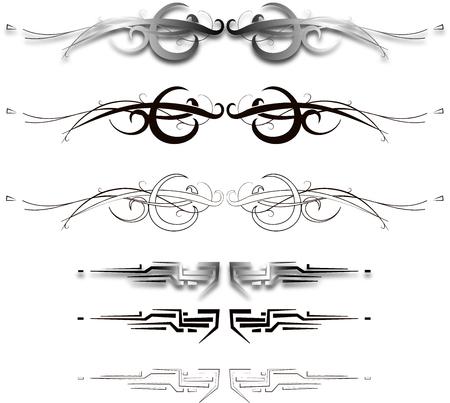 ornamental elements Vectores