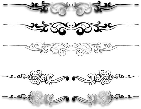 accents: elementos ornamentales  Vectores