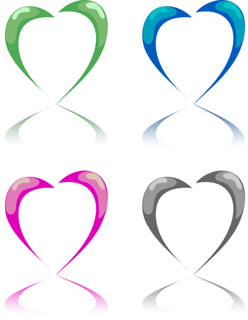 Dit is een hart in 4 interpretatie Stock Illustratie