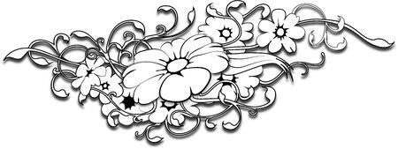 bloem tattoo Stock Illustratie