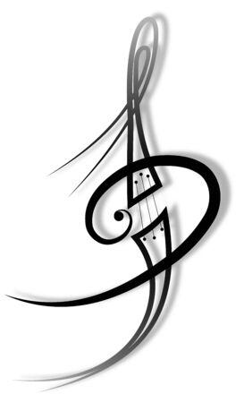 melodie tattoo Stock Illustratie