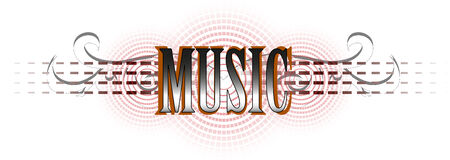 music word in color interpretation  Vectores