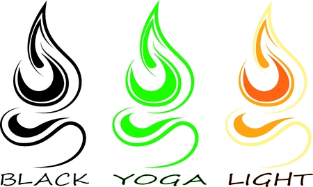 3 icon for yoga,light and black in my interpretation