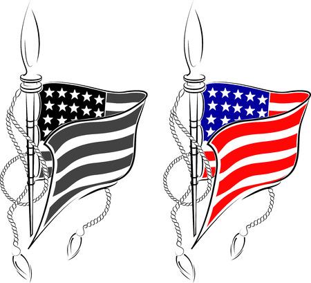 american flag  イラスト・ベクター素材